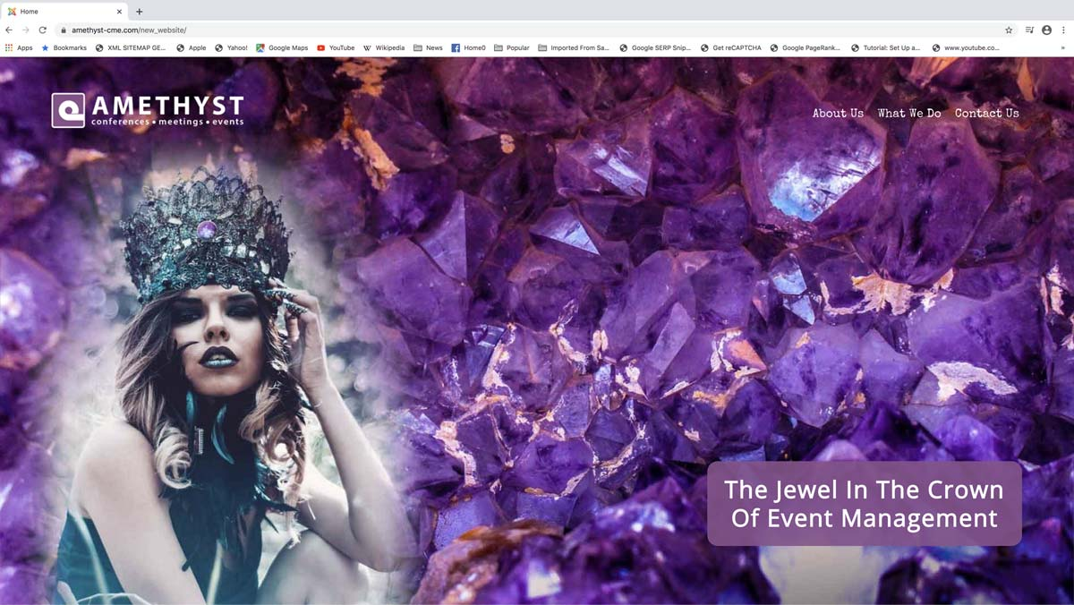 events industry web design
